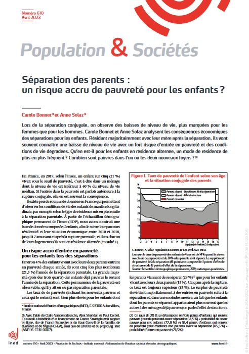 Population & sociétés n° 592 (août 2021) : Les femmes sur l'Île de La Réunion fortement exposées aux violences pendant l'enfance et l'adolescence